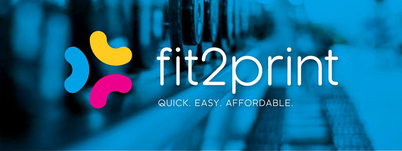 The home page slider for the fit2print website